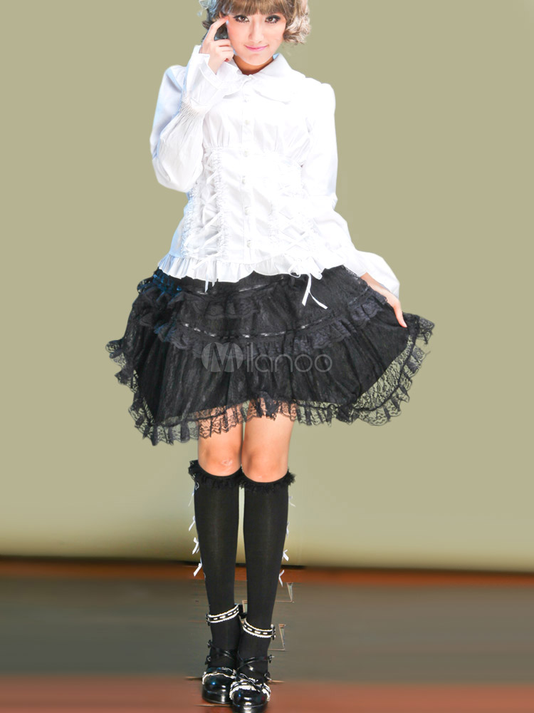 Angle Tiered Tulle Lolita Skirt $49.99 AT vintagedancer.com