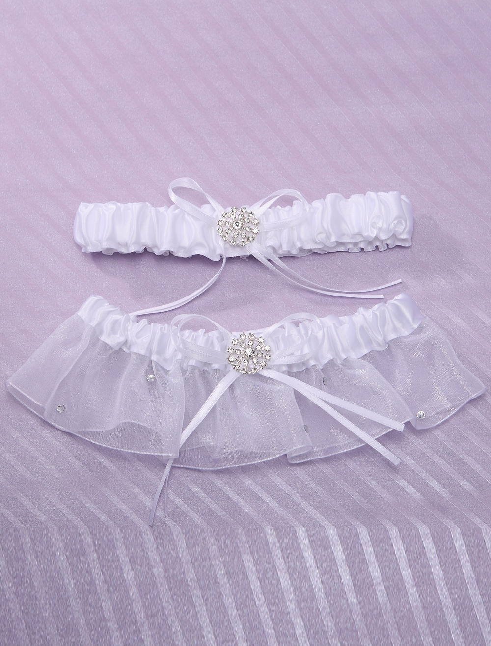 Attractive white bridal wedding garter for Garter under wedding dress