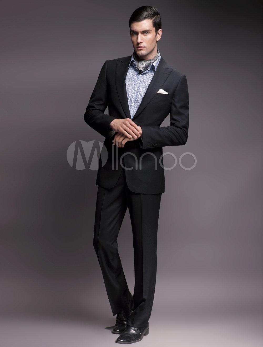 Trajes De Baño Azul Siete:Chaqueta de lana de azul marino oscuro para hombres – Milanoocom