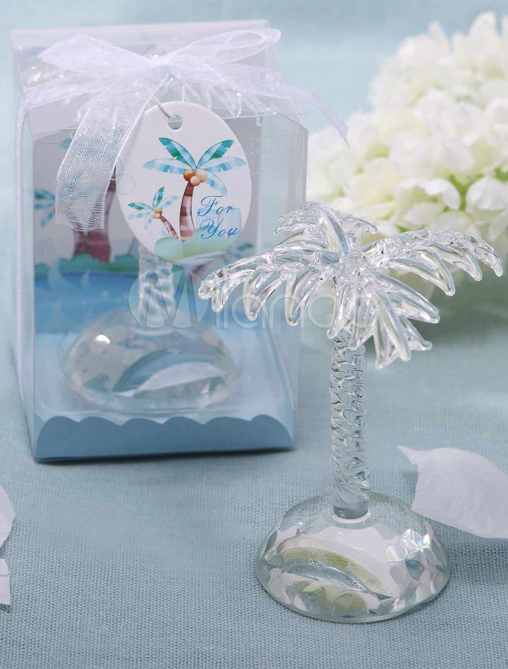 Crystal Palm Wedding Place Card Holder