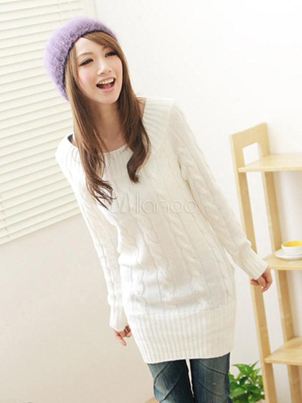 вязаные свитера белые с рельефным узором женские
