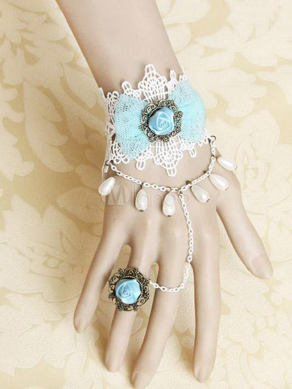 Brățară casual Lolita, stil gothic, cu amestec de bumbac