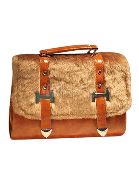 Pretty Fur Faux Fur Shoulder Bag For Woman