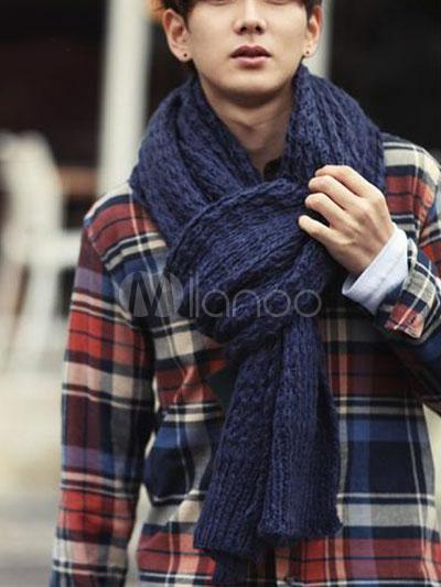 Tejer bufandas de algodón hombres ,No.1