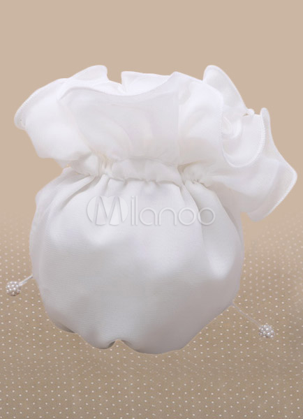 Concise Ecru White Bridal Wedding Handbag