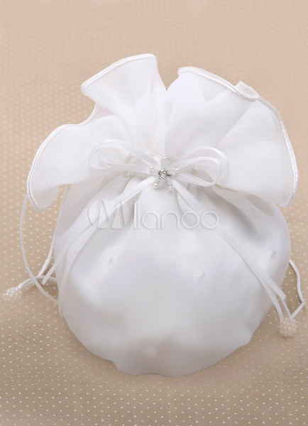 Bow Ecru White Bridal Wedding Handbag