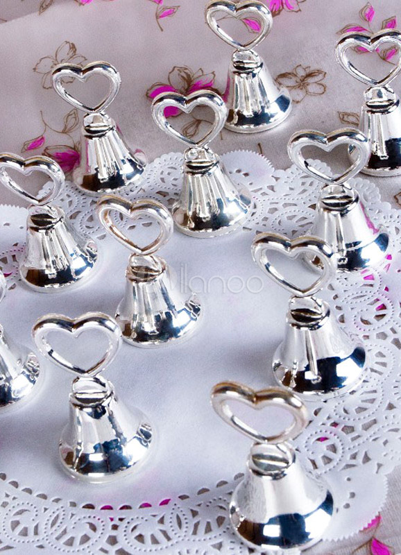4-Piece Metal Heart Shaped Dinner Bell For Wedding