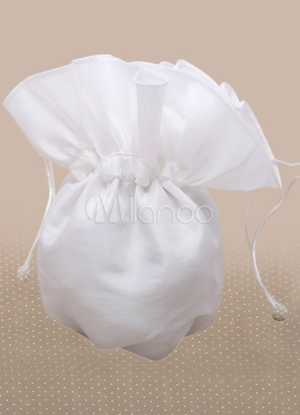 Ecru White Bridal Simple Wedding Handbag