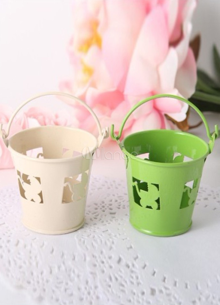 12-Piece Baby Carriage Hollow Out Alloy Wedding Pails