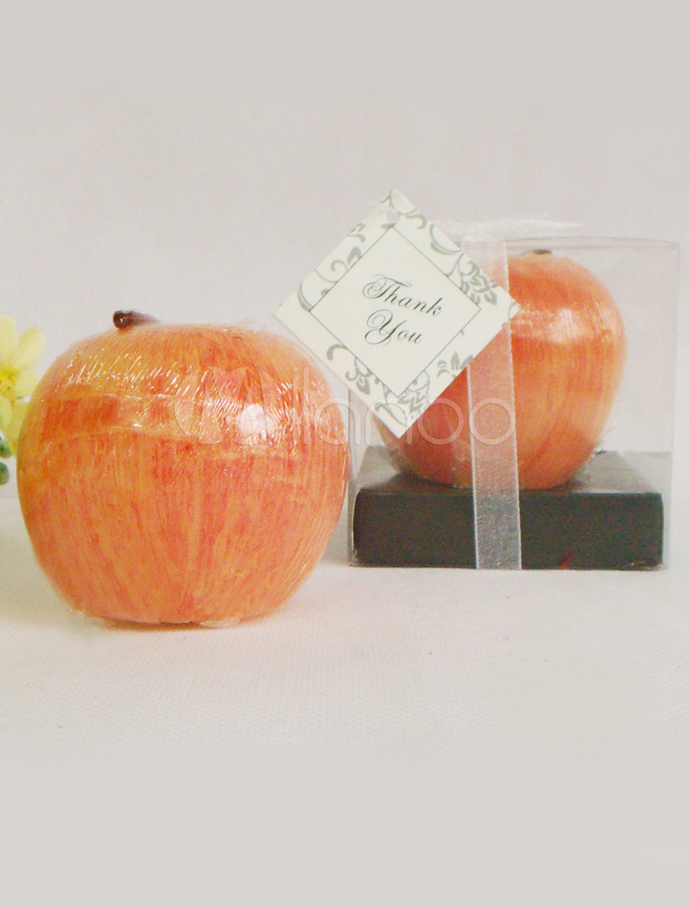 Red Apple Shaped Wax Candle Favors