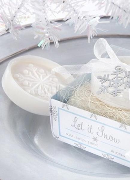 Matrimonio Natale Bomboniere : Fiocco di neve bianco pezzi modello soap bomboniere per