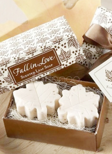 2 pezzi di acero bianco foglia modello soap bomboniere per - Modello di foglia per bambini ...
