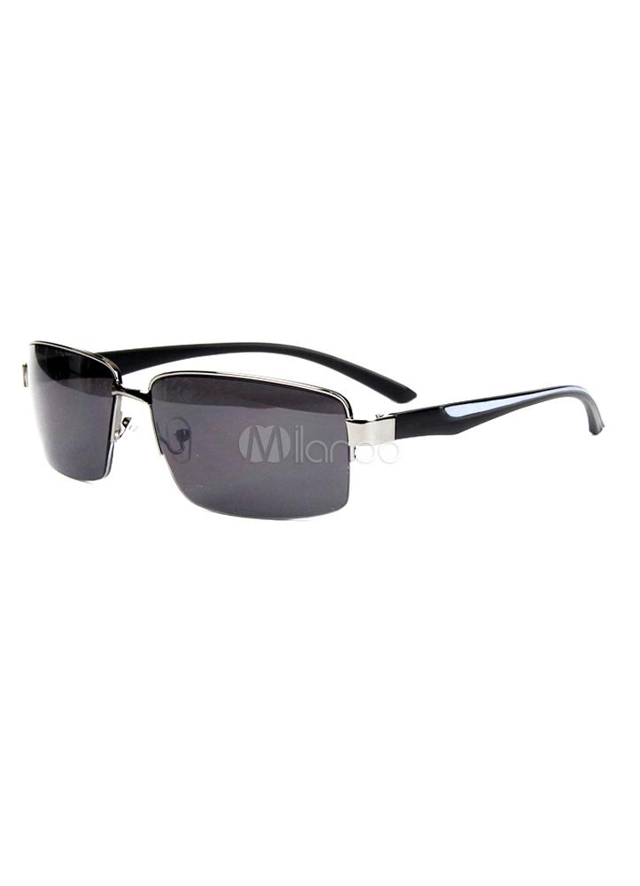 Attractive Semi-Rimless Resin Glasses - Milanoo.com