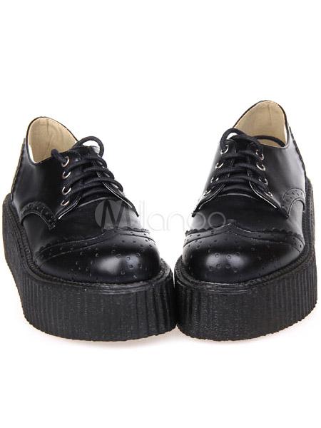chaussures de lolita noir unicolore plate forme. Black Bedroom Furniture Sets. Home Design Ideas