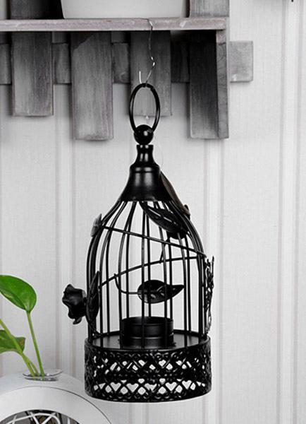 Black Birdcage Metal Candle Favors
