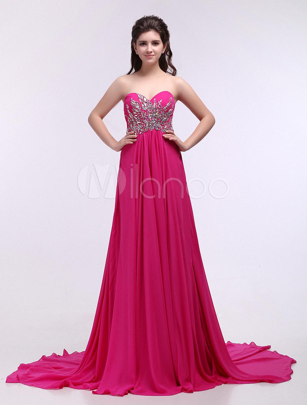 Vestidos de fiesta color rosa fucsia – Vestidos de noche populares 2018