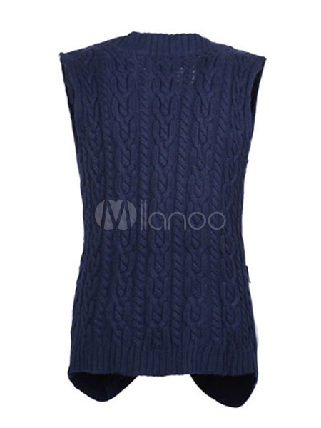 coole dunkelblaue baumwolle h keln stricken mode f r. Black Bedroom Furniture Sets. Home Design Ideas