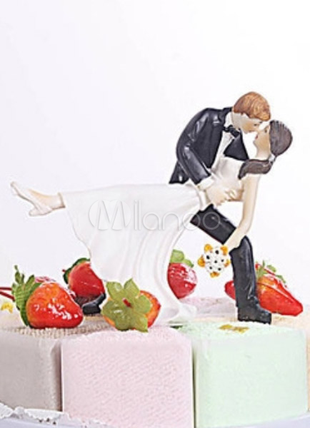 Fantastic Resin Figurine Classic Couple Wedding Cake Toppers