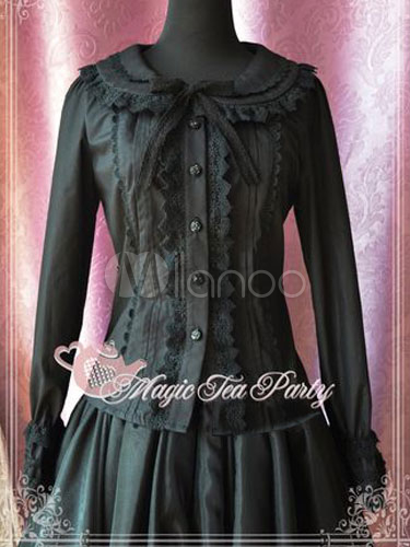 Elegant Bow Pure Cotton Lolita Blouse $59.99 AT vintagedancer.com