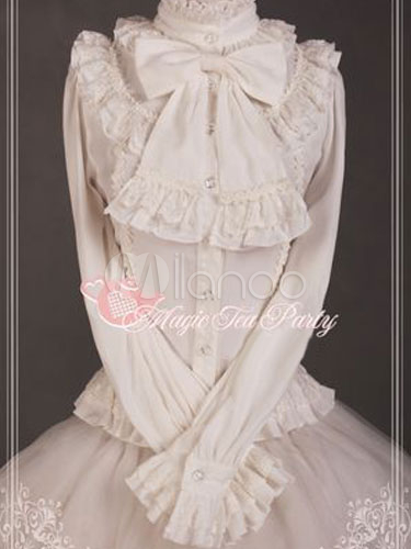 Hime Bow Ruffles Lolita Blouse $69.99 AT vintagedancer.com