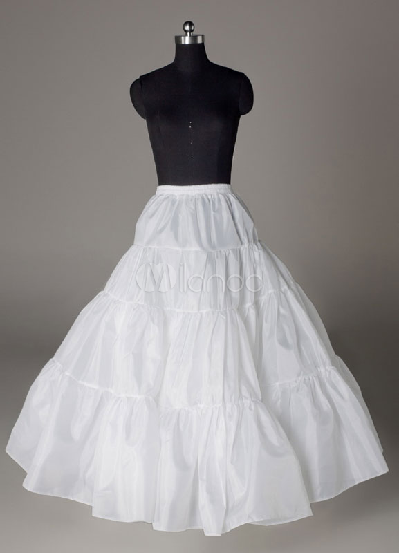 Beautiful White A-Line Slip Wedding Petticoat for Bride $19.99 AT vintagedancer.com