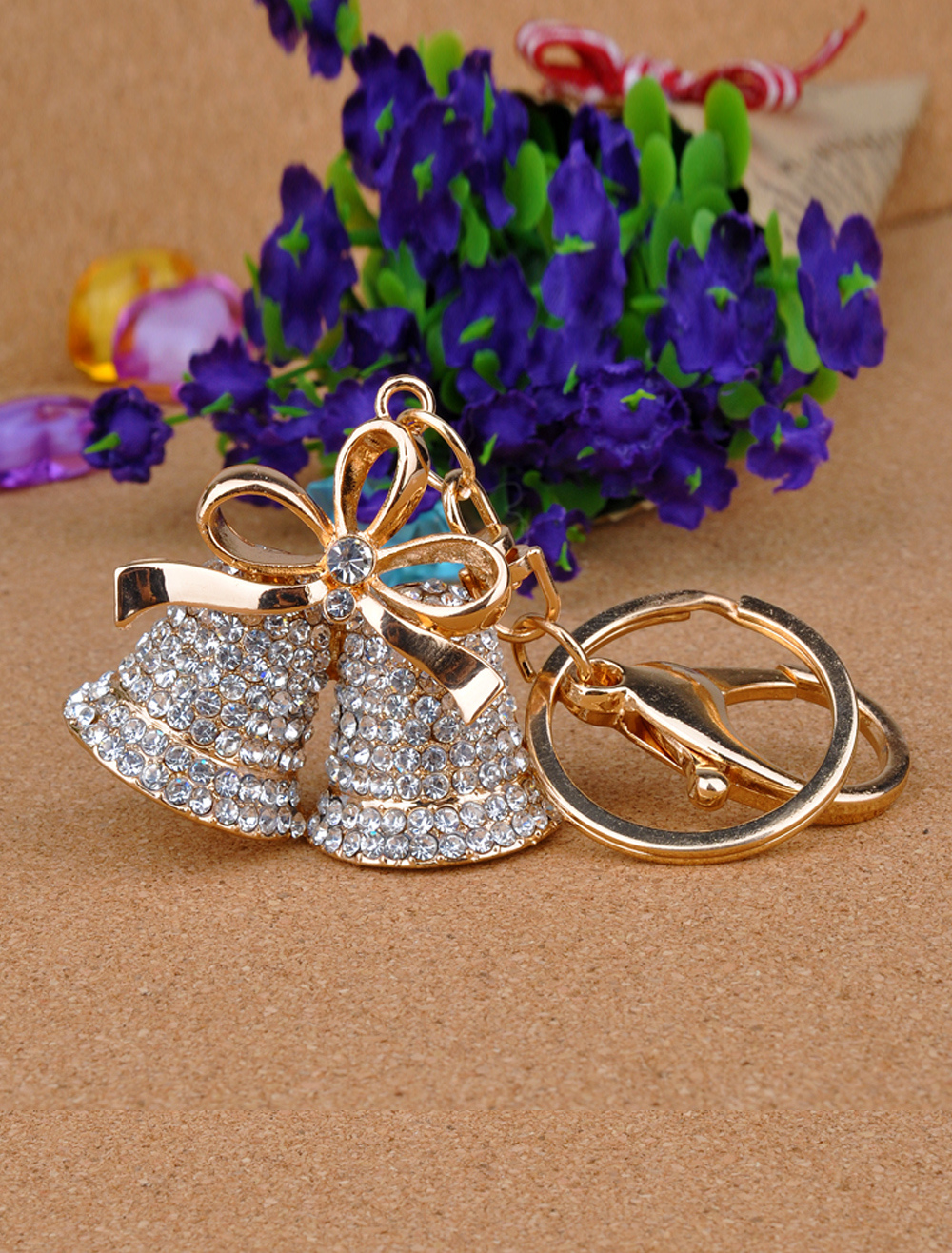 Bells Pattern Metal Keychain for Wedding
