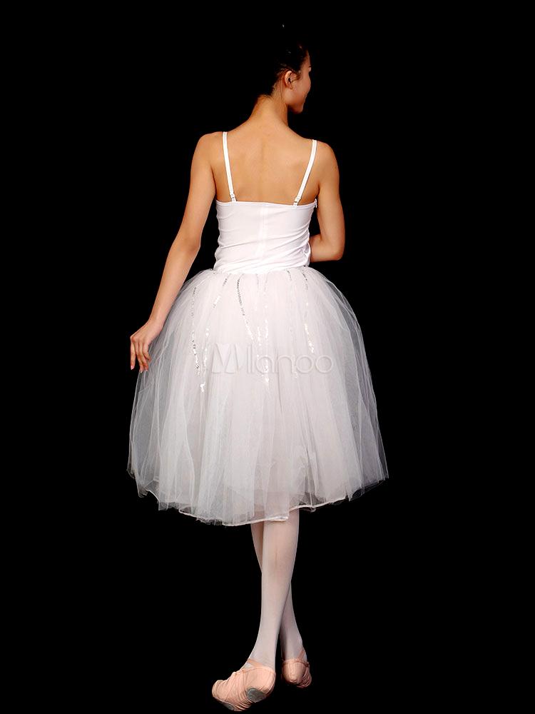 ホワイト ・ スパゲティ ストラップ女性バレエ ... ・ スパゲティ ストラップ女性バレエ ダ