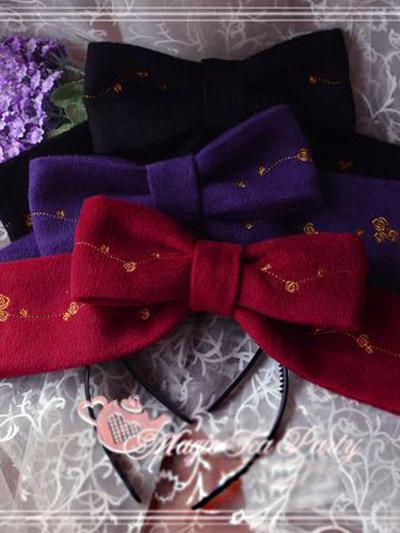 Floral Print Bow High Quality Lolita Headdress