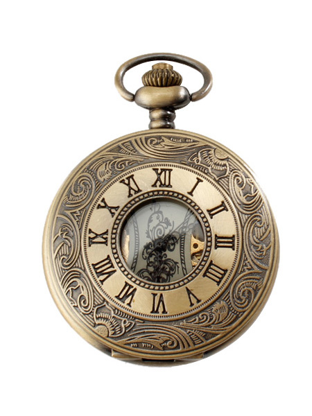 Vintage Copper Round Shape Pocket Watch for Men $15.89 AT vintagedancer.com