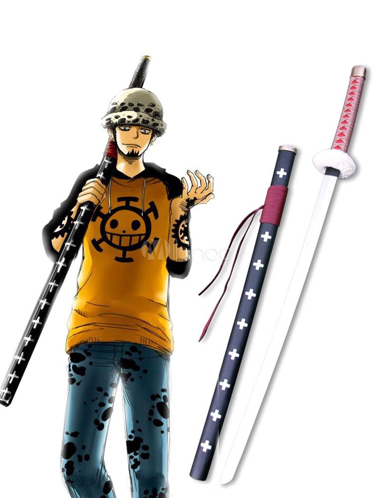 One Piece Trafalgar Law Red Sword Cosplay Weapon Halloween