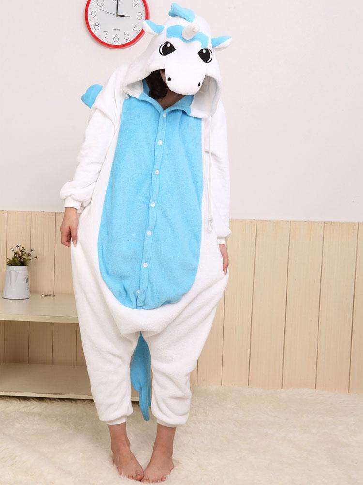 Azul blanco dulce unicornio Kigurumi vestuario,No.1