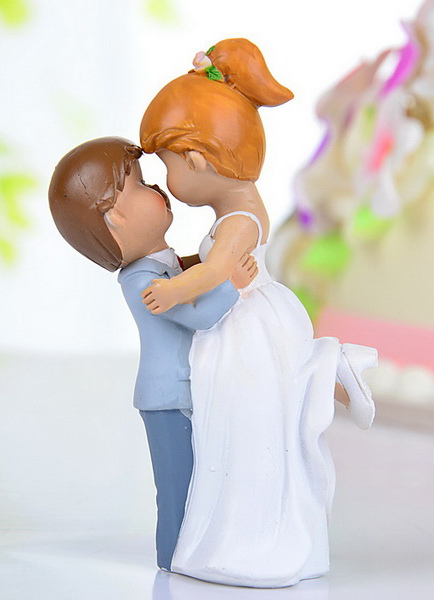Figurine Classic Couple Wedding Cake Toppers