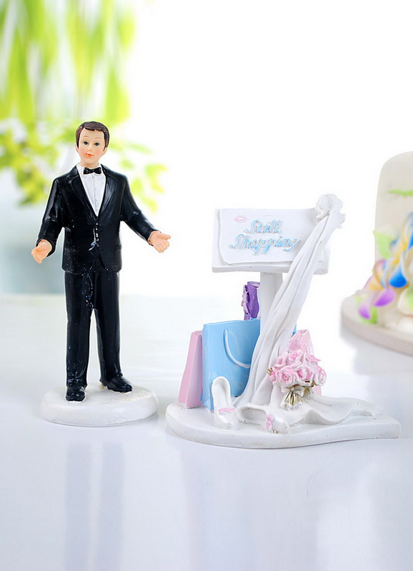 Funny Classic Figurine Wedding Cake Toppers