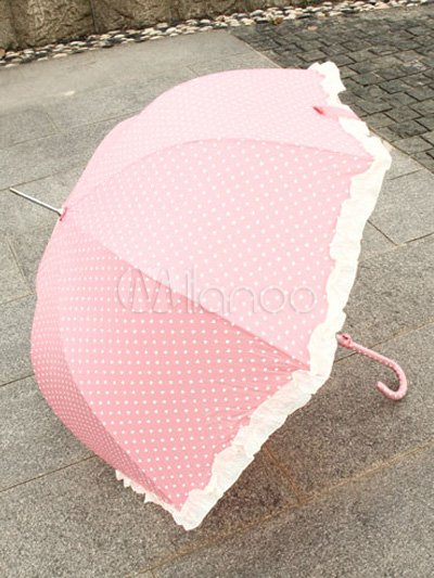 Fantastic Lace Polka Dot Lolita Umbrellas $14.99 AT vintagedancer.com