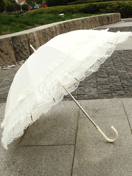 Sweet Polka Dot Lace Lolita Umbrella $25.99 AT vintagedancer.com