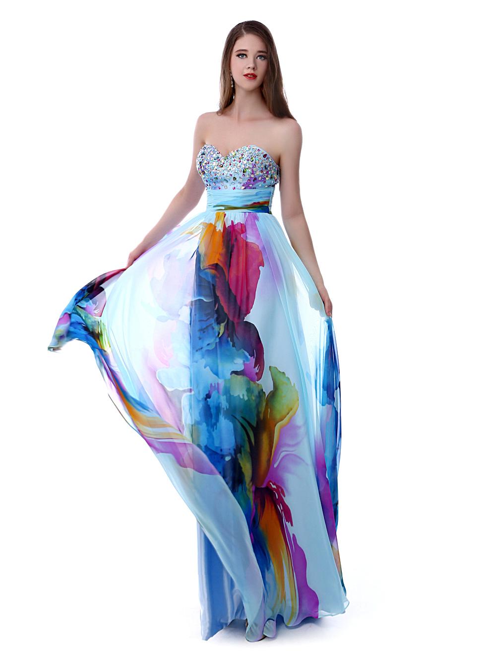 Long Prom Dresses 2017 African Print Prom Dress Strapless