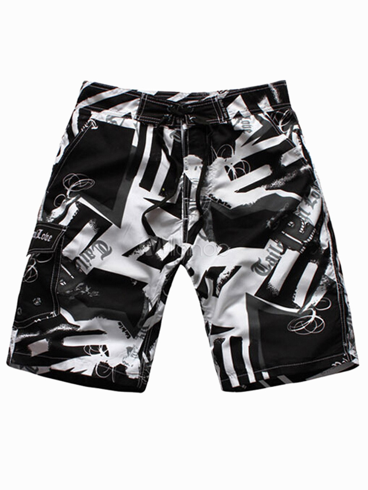 herren shorts mit printmuster. Black Bedroom Furniture Sets. Home Design Ideas