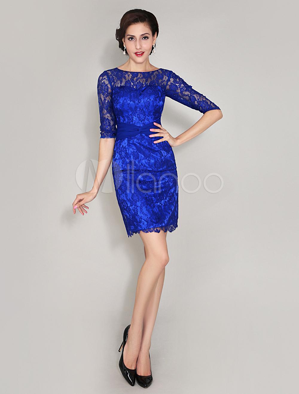 Popolare Vestito In Pizzo Blu QT45 » Regardsdefemmes UZ75