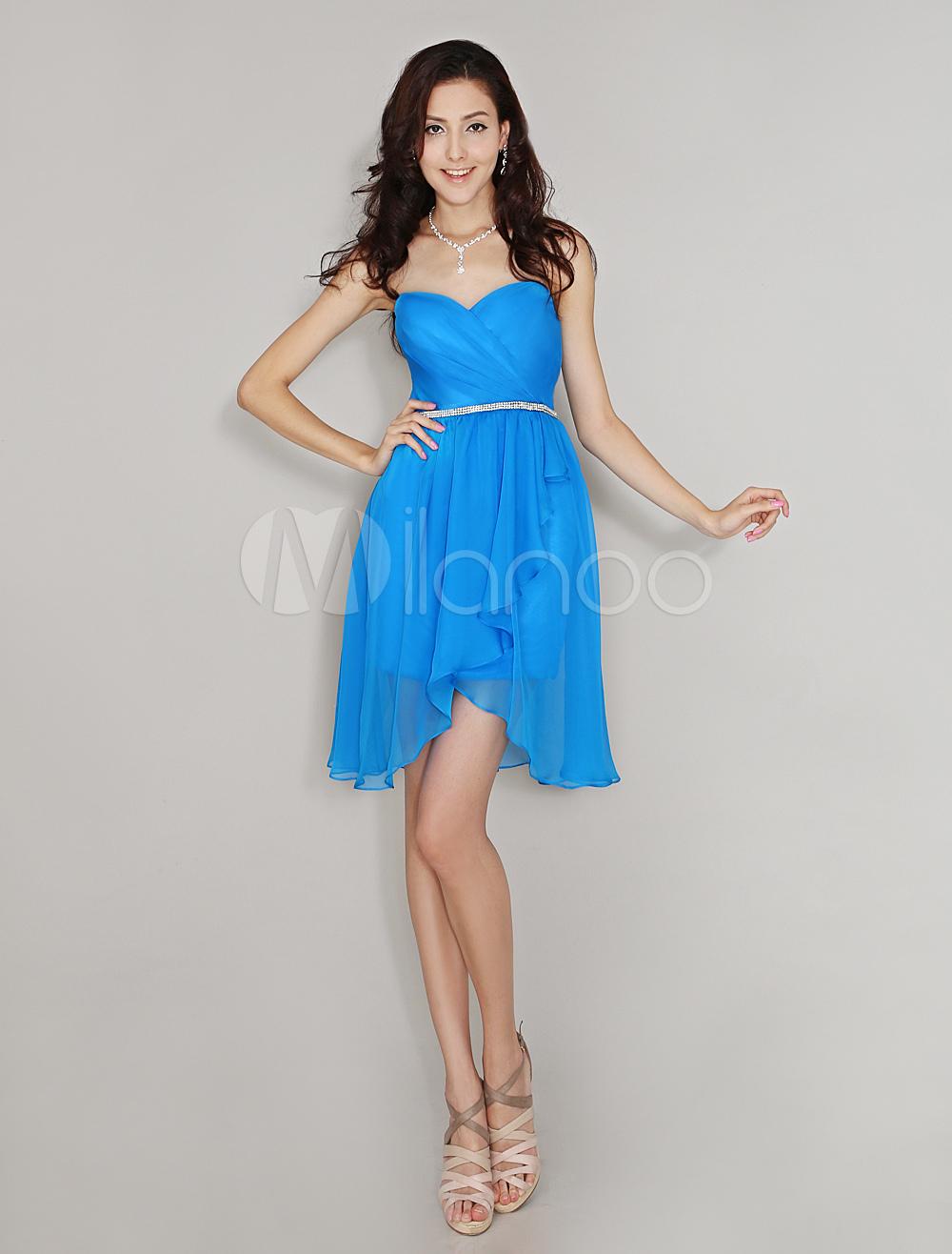Sweetheart Neck Beaded Chiffon Bridesmaid Dress With Fabulous Body Shaping Belt Milanoo