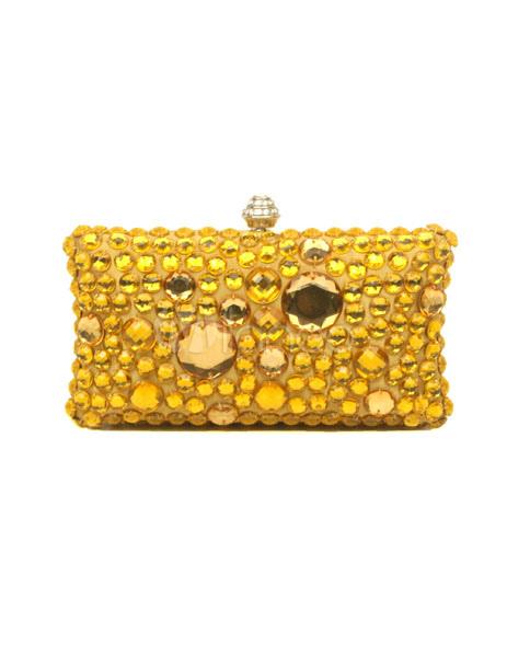 Gothic Elegant Gold Rhinestone Woman's Clutch Bag