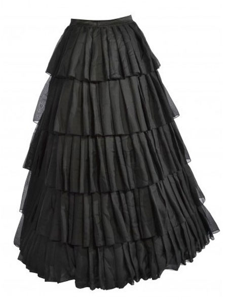 Gorgeous Black Tiered Spandex Sexy Skirt For Woman
