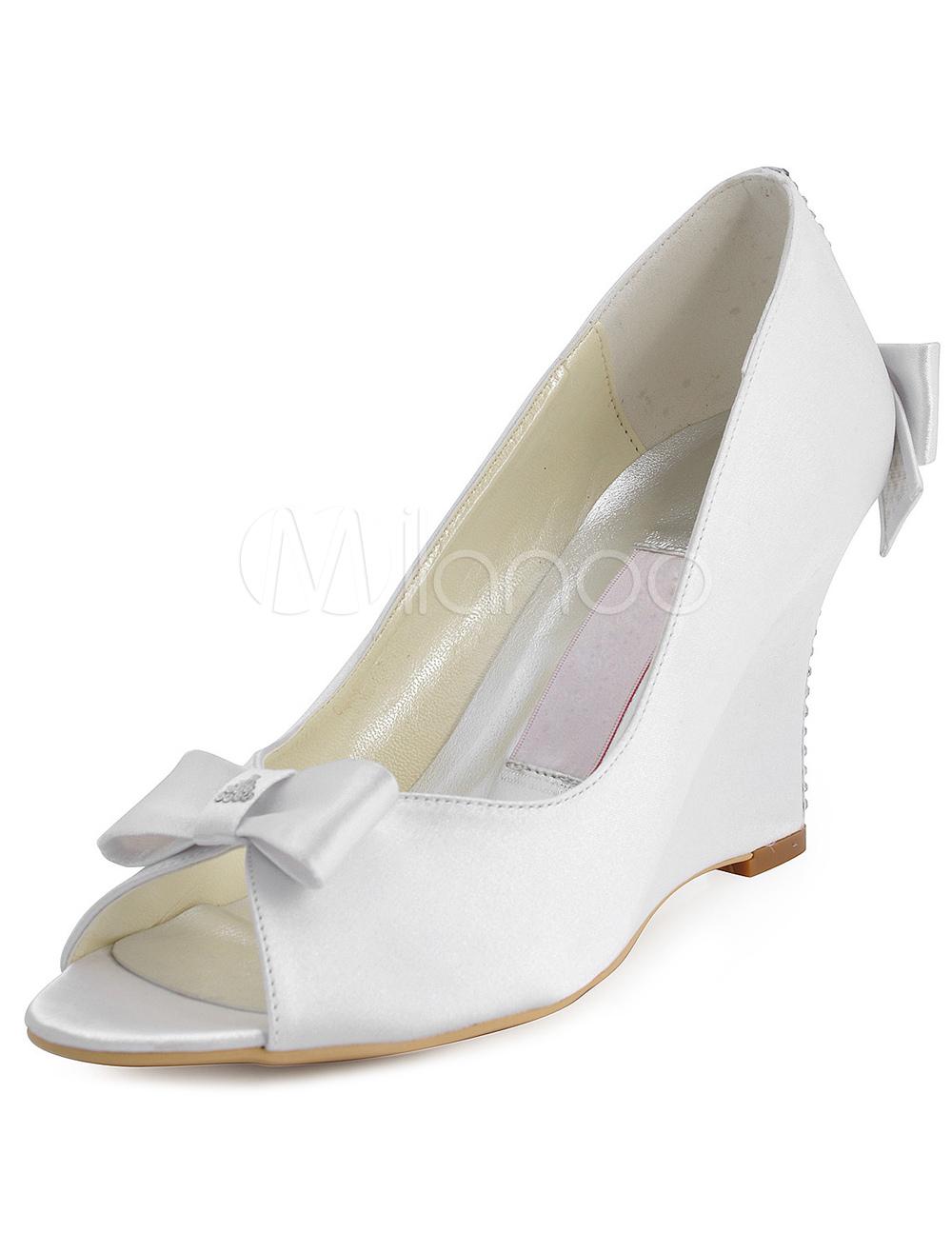 talon compens chaussures de mariage - Chaussure Compense Mariage