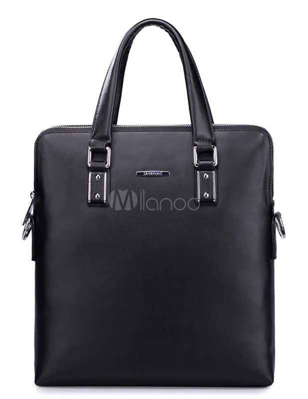 Chic Business Formal Cowhide Tote Bag For Men - Milanoo.com
