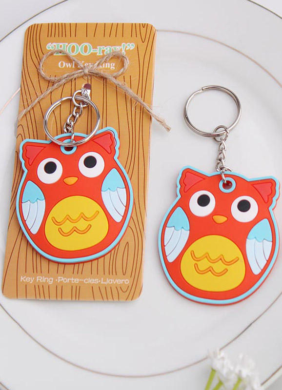 Metal Non-personalized Owl Piece Keychain For Wedding