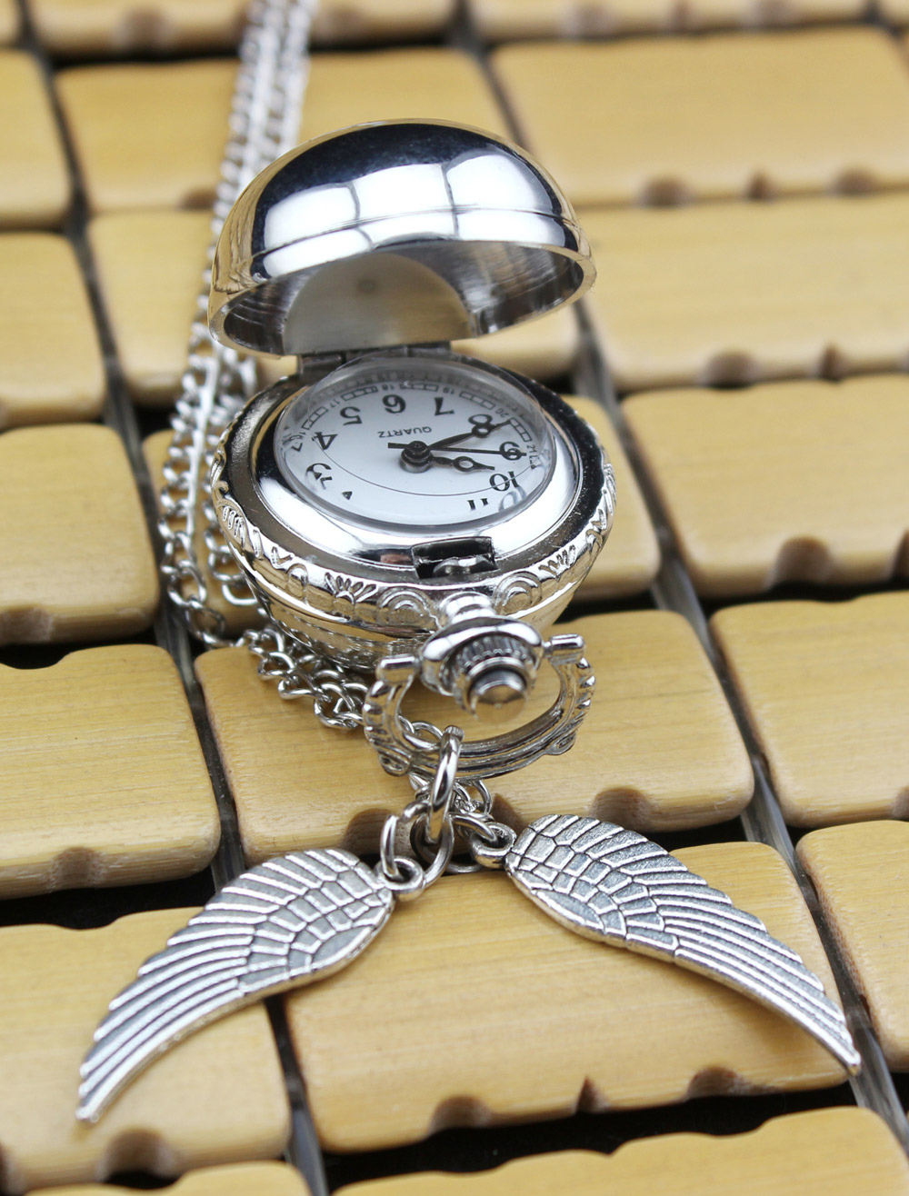 Metal Personalized Wedding Pocket Watch With Wings