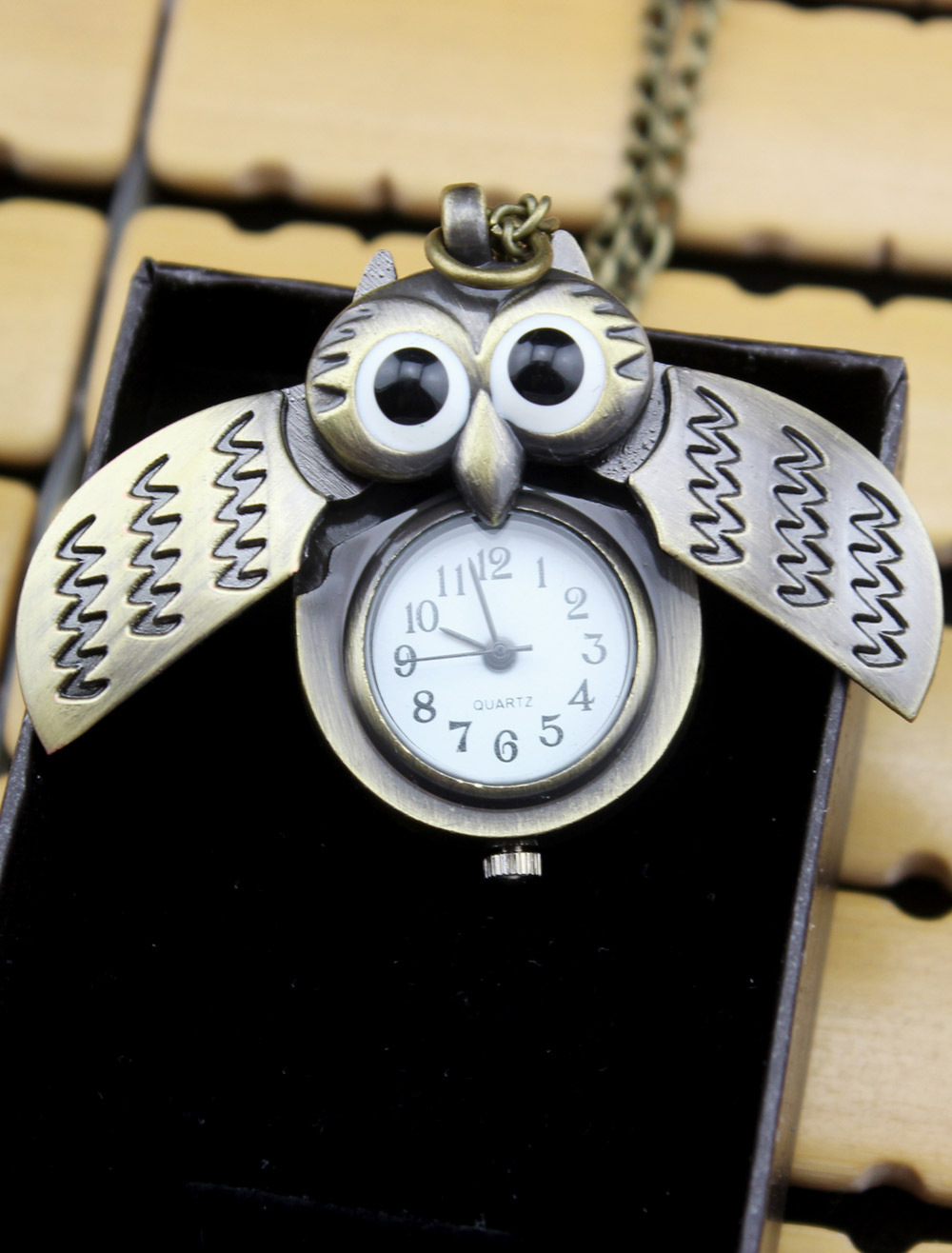 Metal Personalized Wedding Owl Pattern Pocket Watch