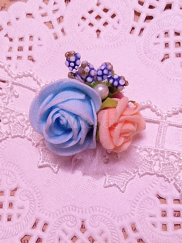 Sweet Multi Color Rose Pattern Lolita Brooch