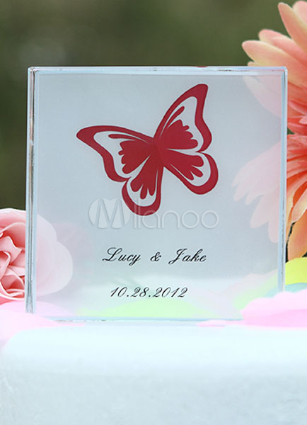 Personalized Butterfly Wedding Cake Topper