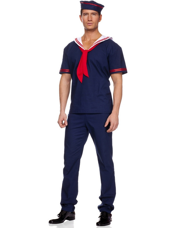 Halloween Mens Blue Sailor Costume $42.99 AT vintagedancer.com