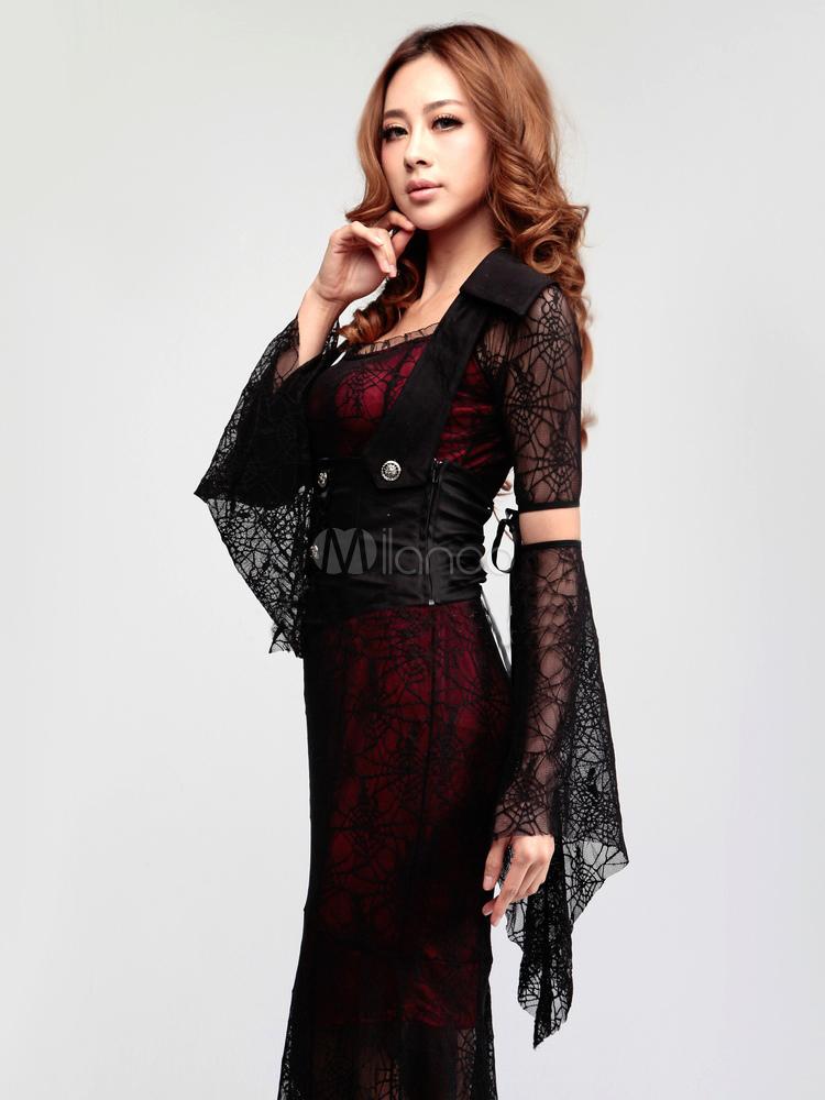 vampire costume de la femme gothique halloween. Black Bedroom Furniture Sets. Home Design Ideas